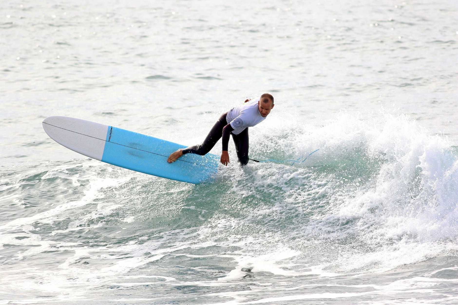 TWO UP: Woolgoolga surfer Charlie O'Sullivan has had a fantastic run in recent years at NSW Longboard Championship meetings.