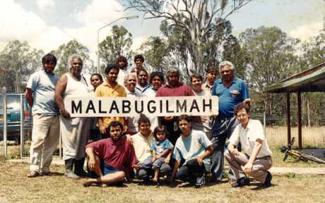 Photo taken when the Malabugilmah community in Tabulam was first established in 1982.