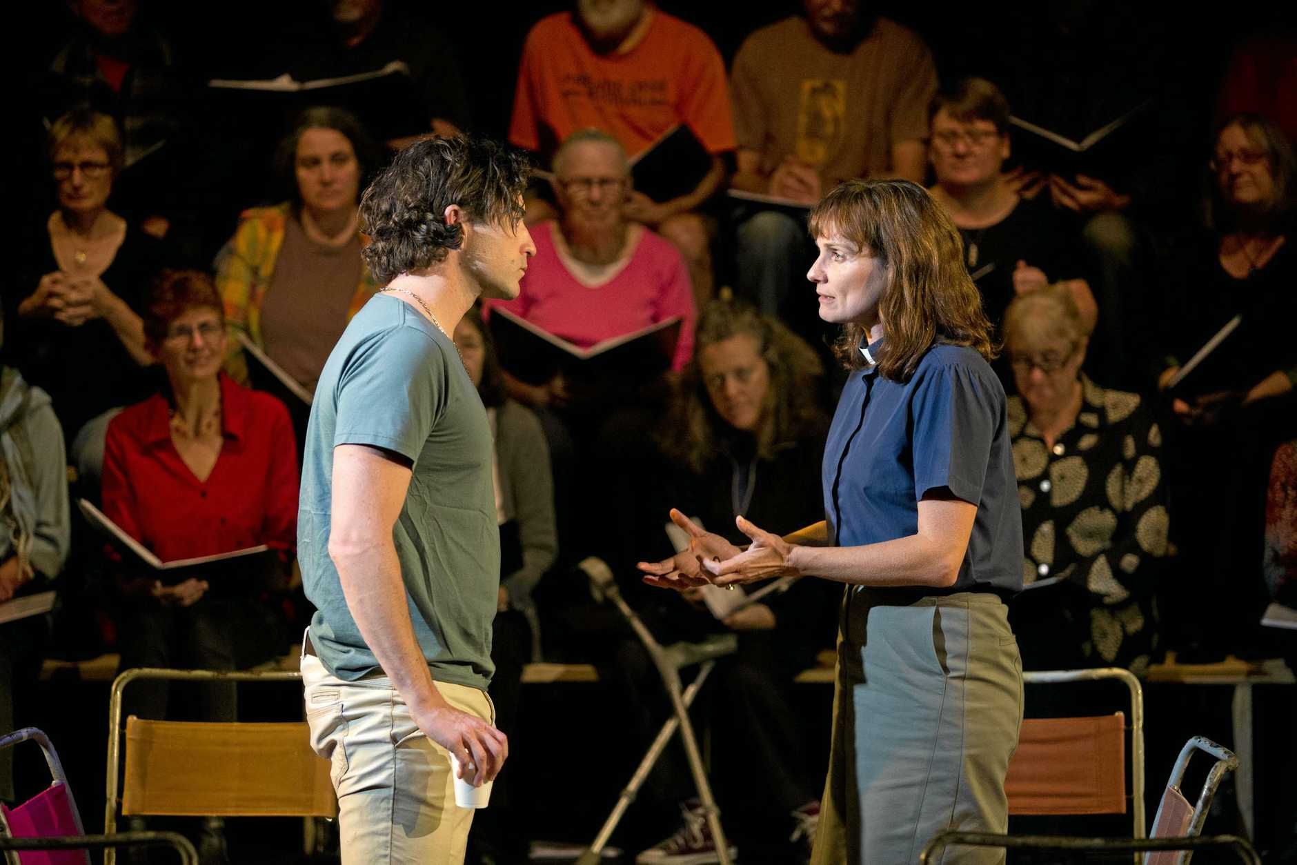 ON STAGE: Johnny Carr and Catherine McClements in The Events.