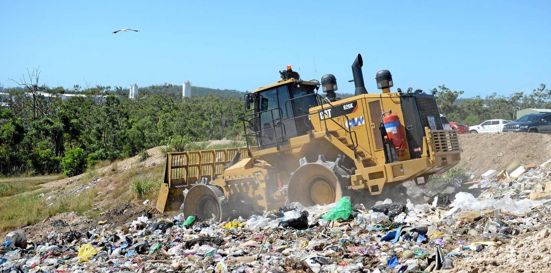 New compactor at Yeppoon landfill. Photo Allan Reinikka / The Morning Bulletin