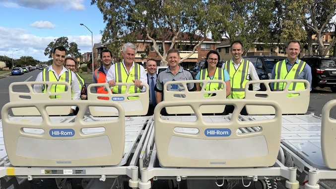 NEW BEDS: Interim upgrade works at the current Tweed Hospital saw 12 new inpatient beds installed on Friday.