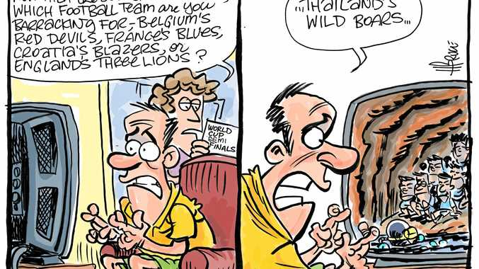 Cartoonist Harry Bruce on the rescue of the trapped boys in Thailand.