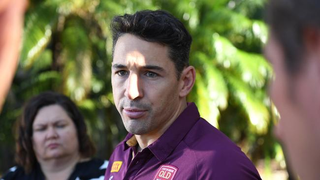 Billy Slater will lead Queensland for the first time in his last match. AAP Image/Dave Hunt.