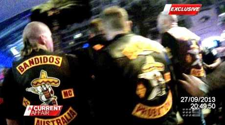 Gold Coast Bikie Brawl between the Bandidos and Finks at Broadbeach. Must Credit: A Current Affair