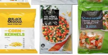 Some of the frozen food products that have been urgently recalled. Picture: Supplied