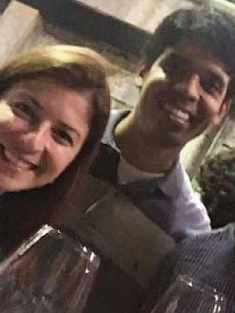 Marcelo Santoro with Cecilia Haddad.