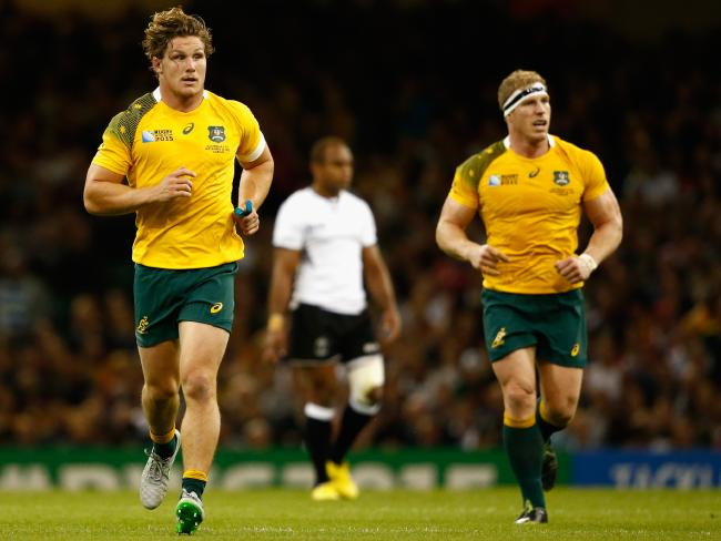 Michael Hooper and David Pocock led Australia to the 2015 World Cup final. Picture: Getty