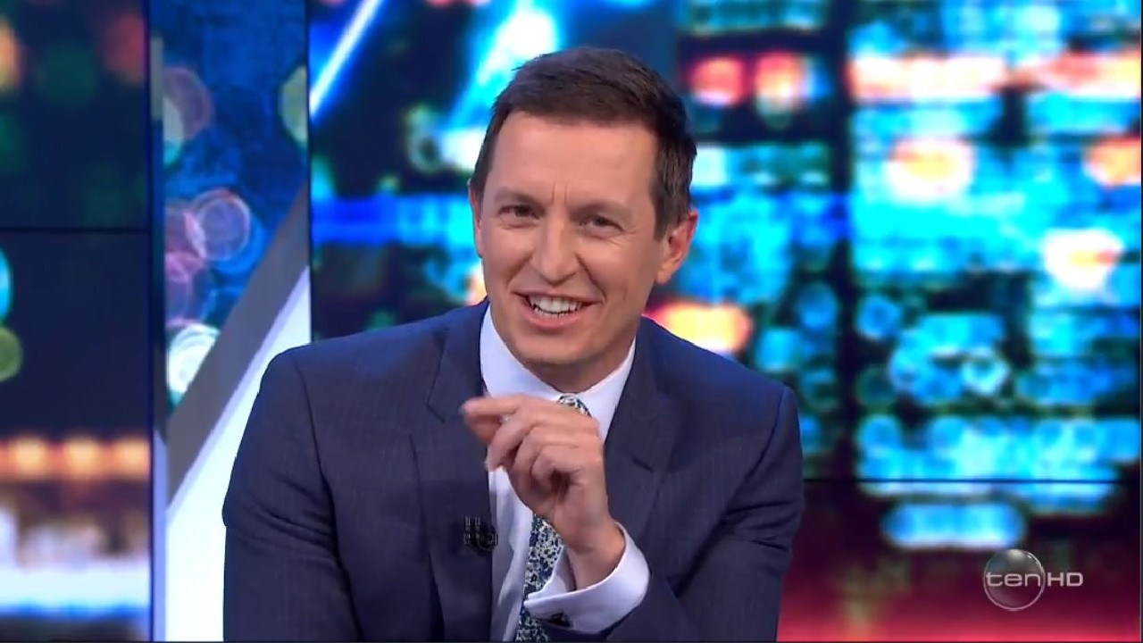 Rove McManus also joined in Tommy Little's joke. Picture: Channel 10