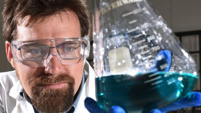 Dr James Vaughan has developed technology to extract nickel and cobalt for car batteries. Picture: AAP/John Gass