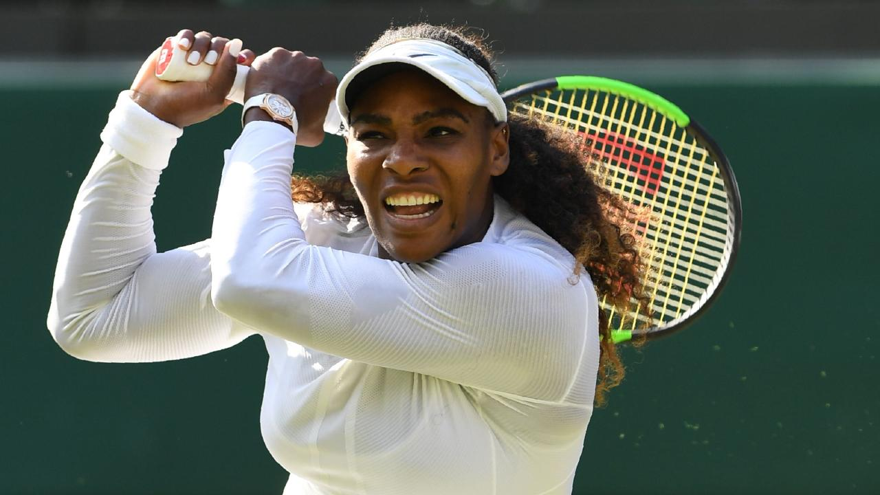 Big names like Serena Williams have been getting prime time on centre court. Picture: AFP