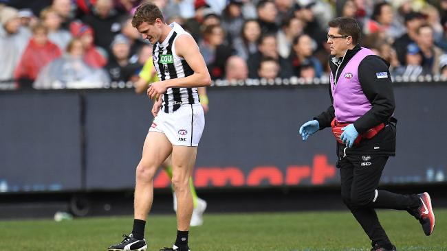 Will Hoskin-Elliott injured his knee on Sunday. Picture: AAP Images