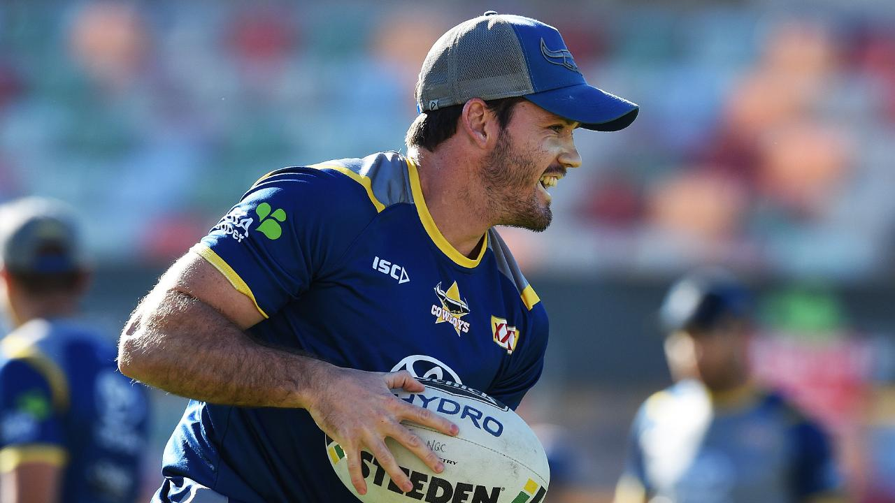 North Queensland Cowboys training from 1300 Smiles Stadium, Townsville. Lachlan Coote. Picture: Zak Simmonds
