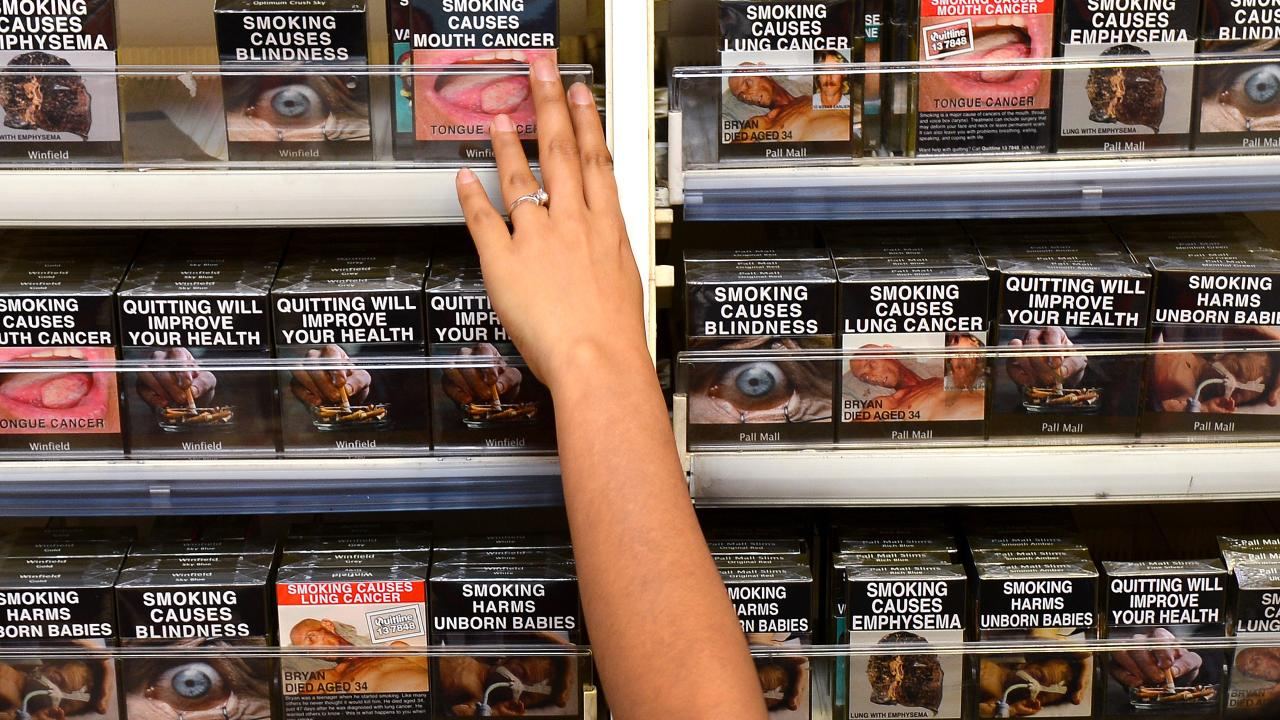 Changes proposed for cigarette packs. Picture: William West/AFP