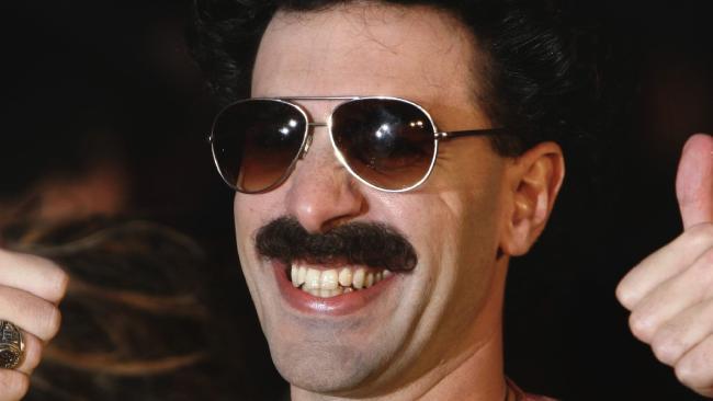 British comedian Sacha Baron Cohen as Borat. Picture: AP