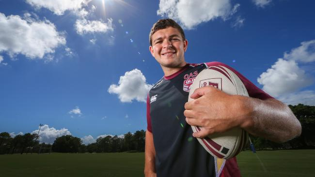 Ash Taylor has trained with both the emerging and senior Origin squads but is yet to get his chance with the Maroons. Picture: NIGEL HALLETT
