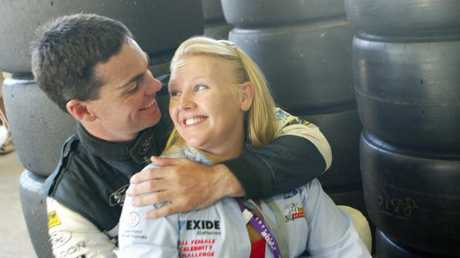 Craig Lowndes and Natalie, pictured in 2002, were together for 14 years.