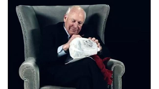 Dick Cheney, happy to sign your waterboarding kit.