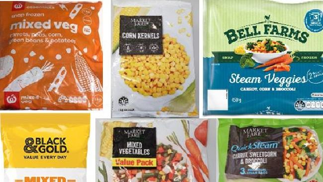 These nine frozen food products have been urgently recalled. Picture: Supplied