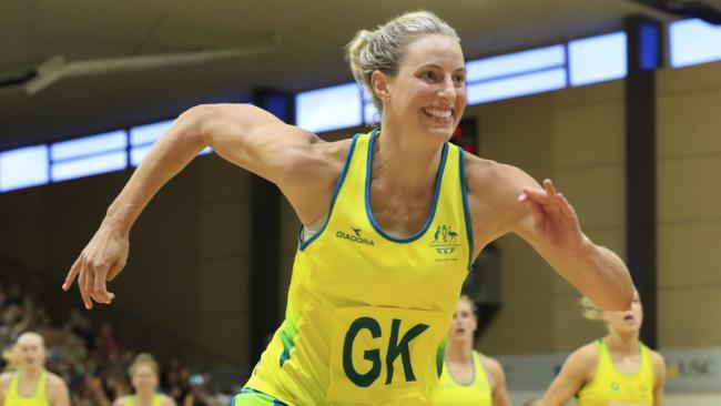 Laura Geitz in action for Australia. Photo: Lachie Millard
