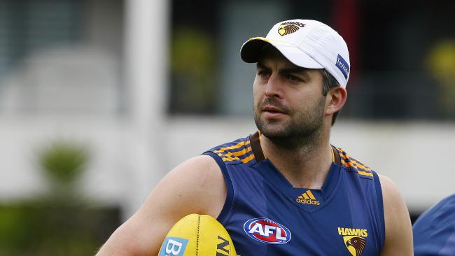 Brian Lake back in his playing days with the Hawks.