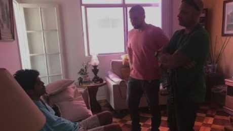 Police arrest Marcelo Santoro at his sister's home.