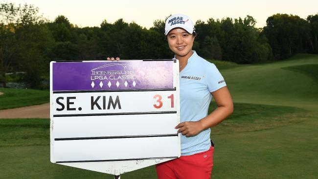 Sei Young Kim smashed every LPGA tour scoring record on her way to 31-under par. Picture: Getty