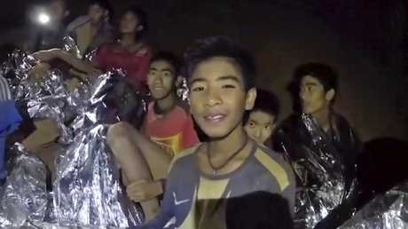 12 boys and their soccer coach have been stuck in the caves since June 23. Picture: Royal Thai Navy Facebook Page via AP