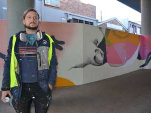 Artist turns bus interchange into outdoor art feature
