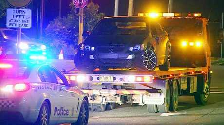 Three males fled from the stolen vehicle overnight which has been seized by Coffs Clarence Police for forensic examination.