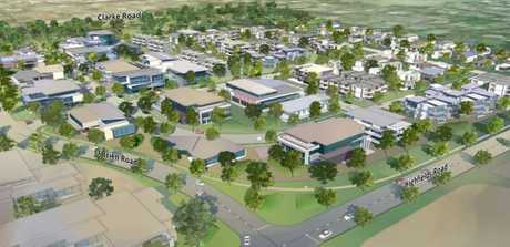 MASTER DESIGNS: Concept art of what the future Highfields CBD will look like, after the master plan was endorsed by the council.