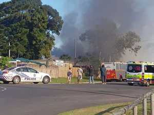 Mother and children flee Hay Point home as fire takes hold
