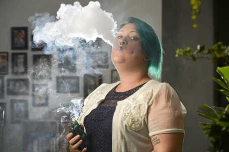Camira mum-of-three Storm Maxwell runs a vaping meet up group and owns a business producing nicotine-free liquid for electronic cigarettes. An ex-smoker herself, Storm can't understand why Queensland Health is spending time and money targeting vapers.