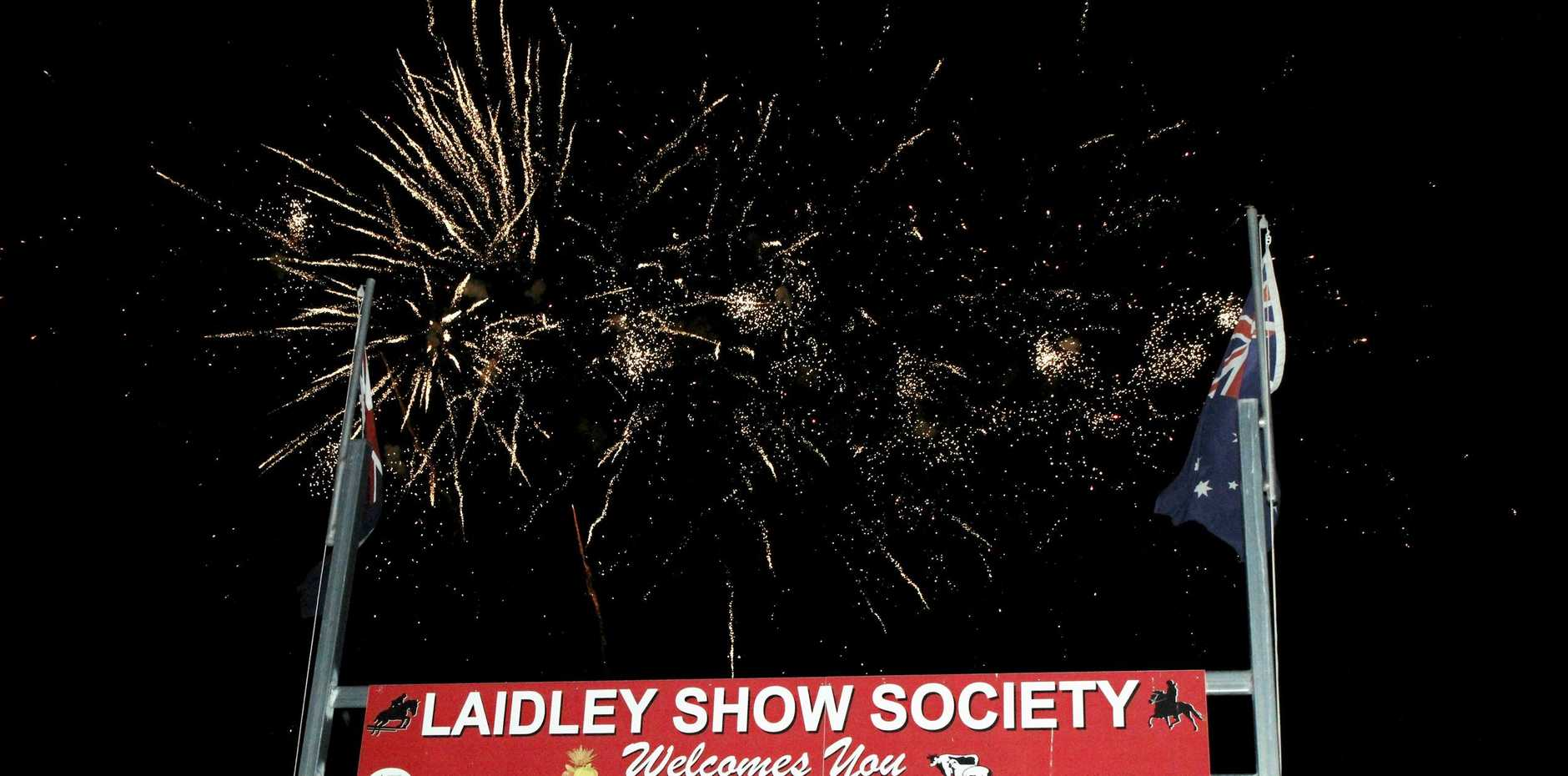 TOP SHOW: Fireworks lit up the darkness to close out the  entertainment on Saturday.