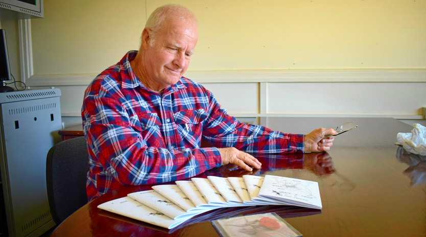 TALL TALES: Chinchilla's Harry Smeeton loves to write poetry and short stories. Diagnosed with Parkinson's, he uses his writing to express his unique sense of humour and keep a smile on his face - and the faces of others.