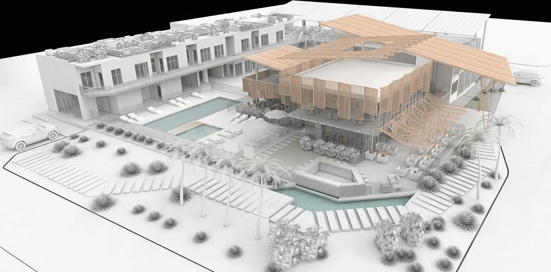 Concept design of the Surf En Yoga Resort planned for development in Iluka.