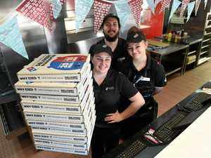 Hundreds of pizzas to fly out the door for Origin Game 3