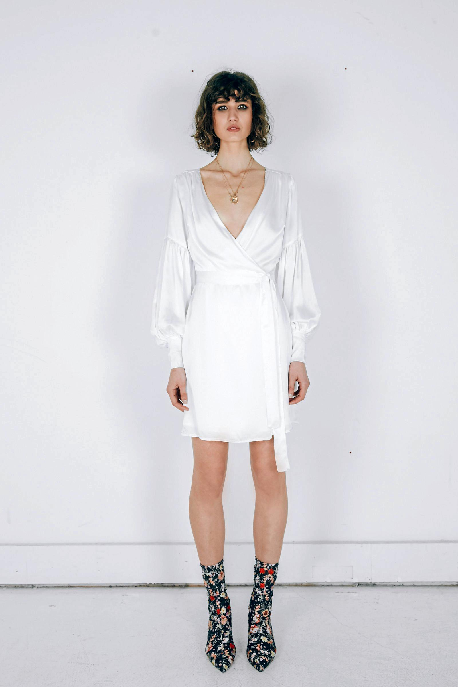 Isabelle Quinn Theiry Wrap Dress Short $260.