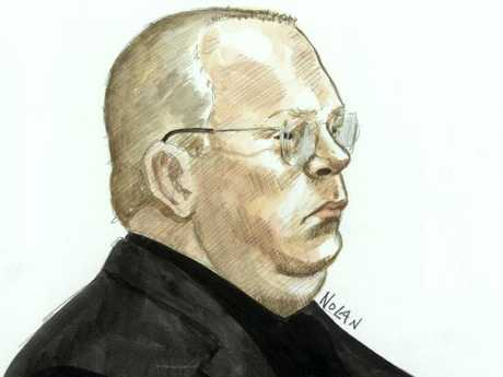 A court sketch of Terrence Tognolini. Picture: Nolan Lisa