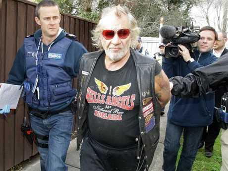 "Chris ""Ball Bearing'' Coelho arrested during a police raid."