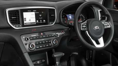 New high-resolution touchscreen is standard across all updated Kia Sportage models. Picture: Supplied.
