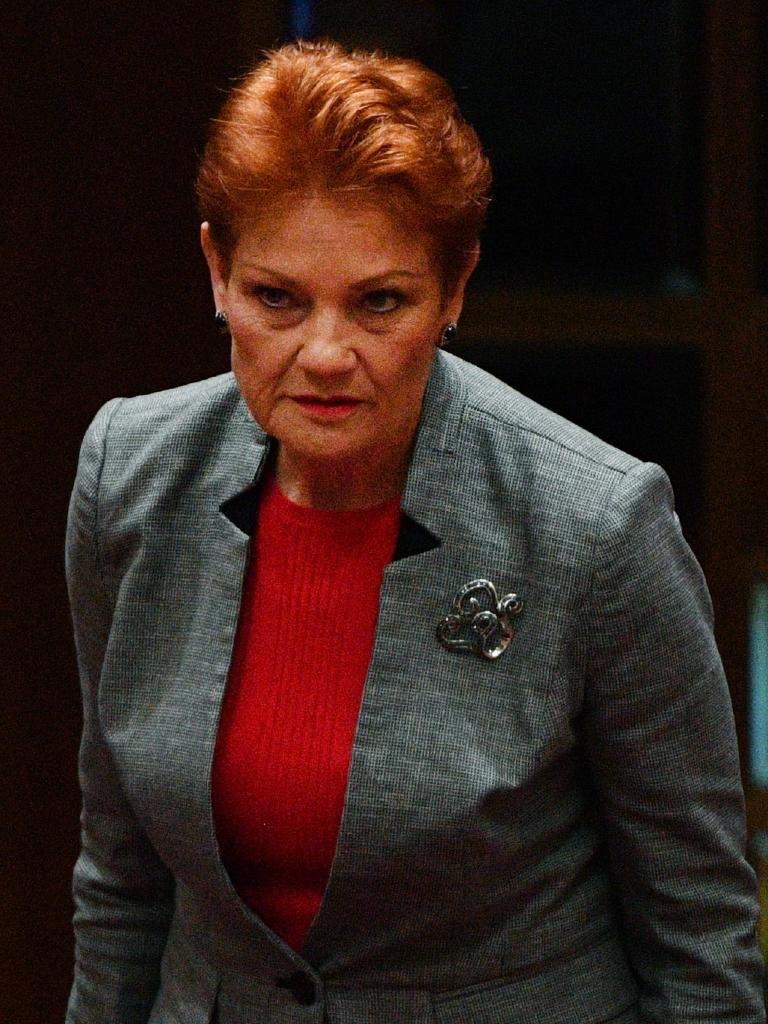 One Nation leader Pauline Hanson. Picture: AAP Image/Mick Tsikas