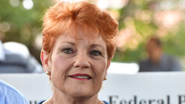"""One Nation leader Pauline Hanson has accused her former colleague Brian Burston of trying to destroy One Nation after he called for election authorities to investigate an alleged """"breach of process"""" by the party. Picture: AAP"""