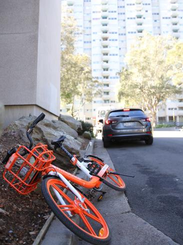 The NSW government is planning $2500 fines for dumped bikes. Picture: John Grainger