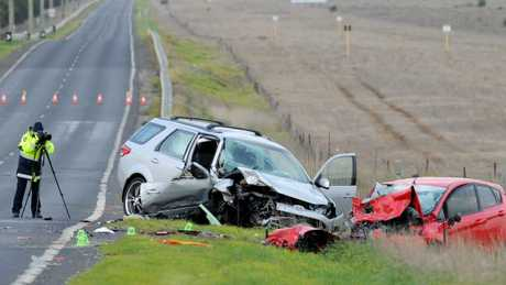 The crash killed a 10-year-old girl and a four-year-old boy. Picture: Andrew Henshaw