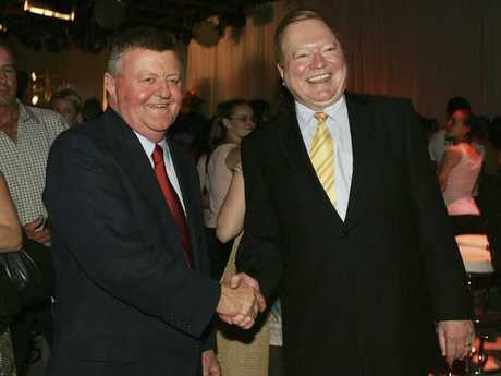 Chisholm pictured in 2005 with Bert Newton