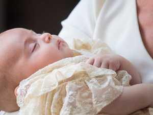 Prince Louis serene at christening