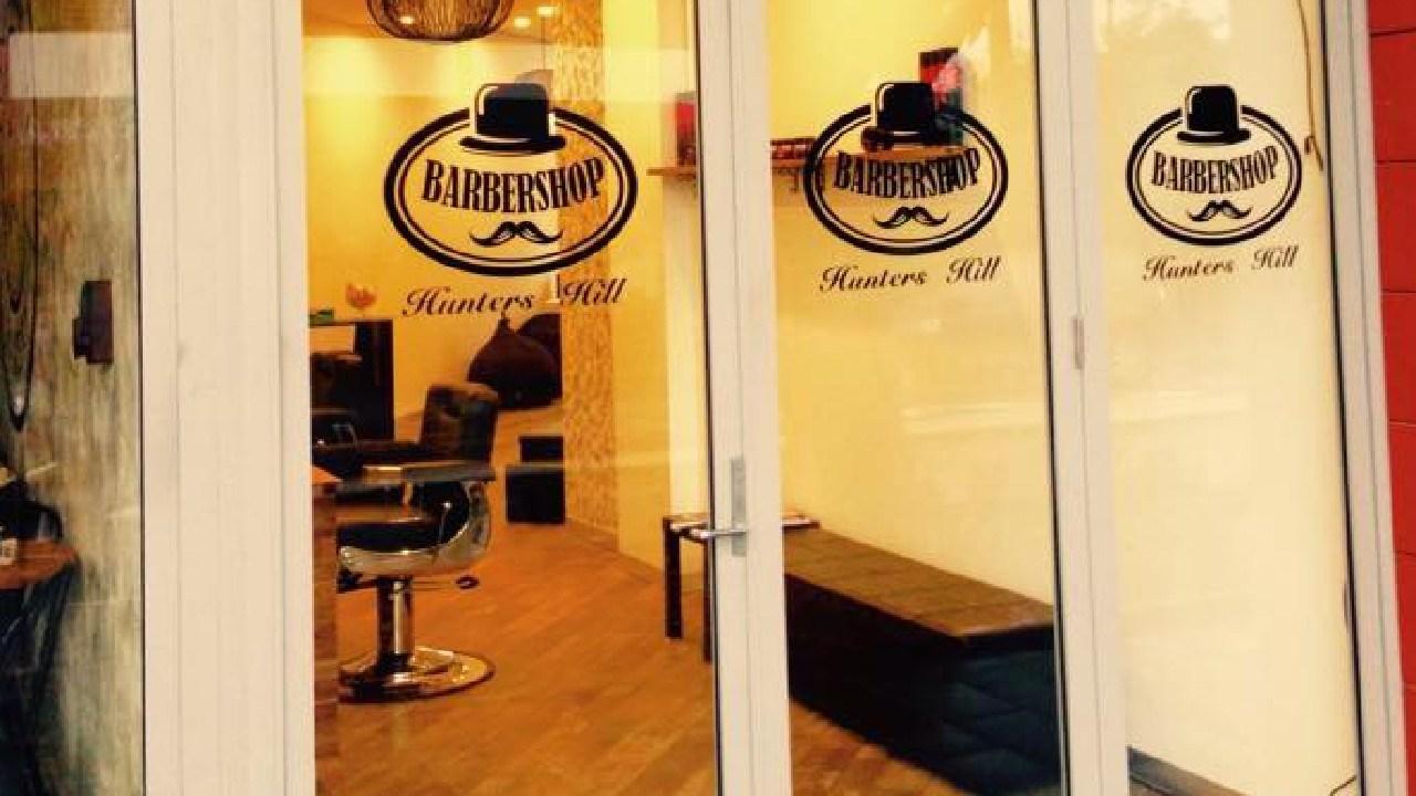 Outside Mr Rahim's barber shop in Hunters Hill, Sydney. Picture: Facebook