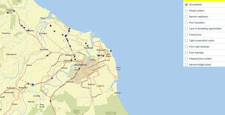RACQ released its survey on the States worst roads. One Bundaberg road comes in at number 13.