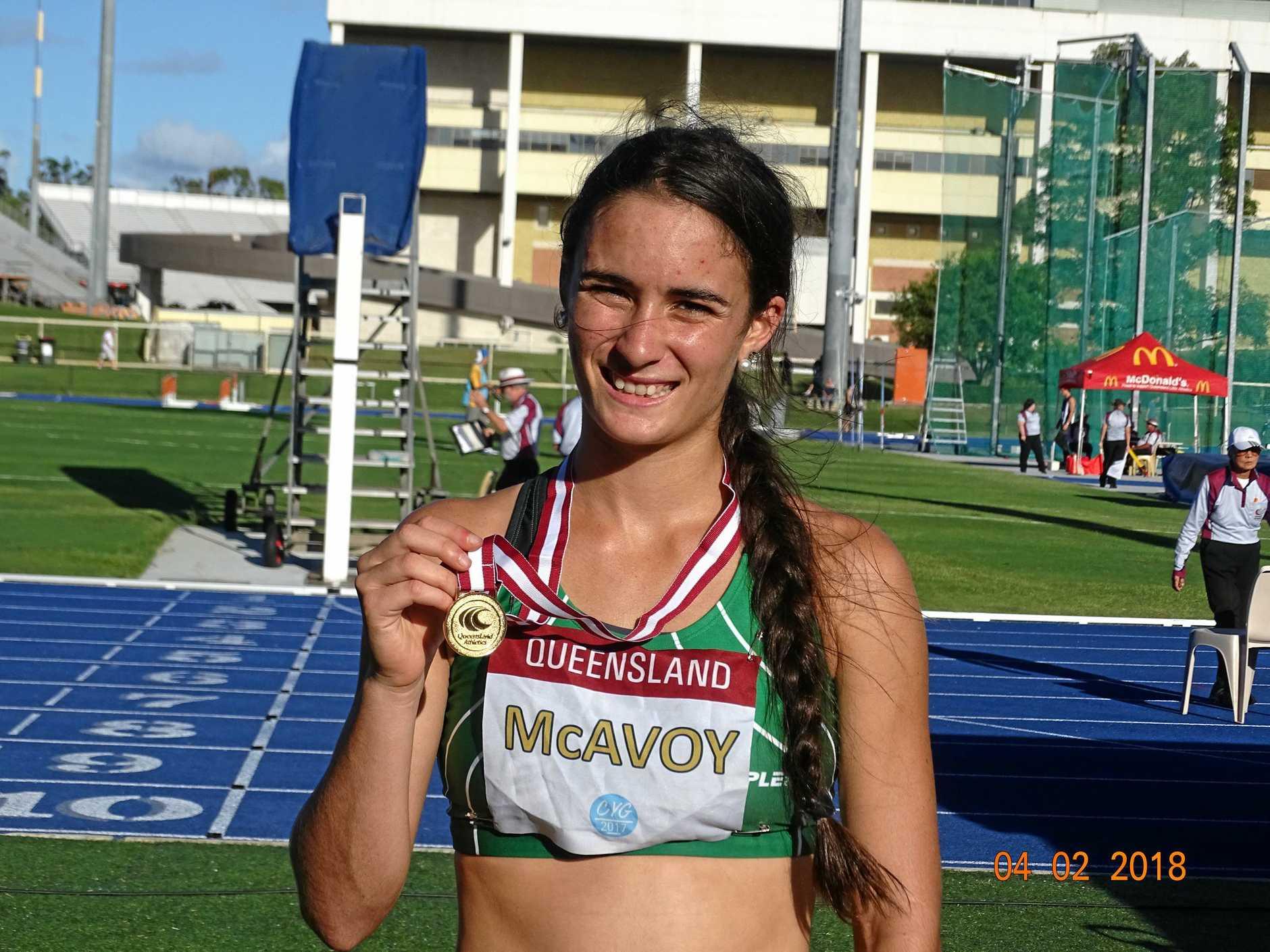 Ipswich and District Athletic Club runner Montanna McAvoy.