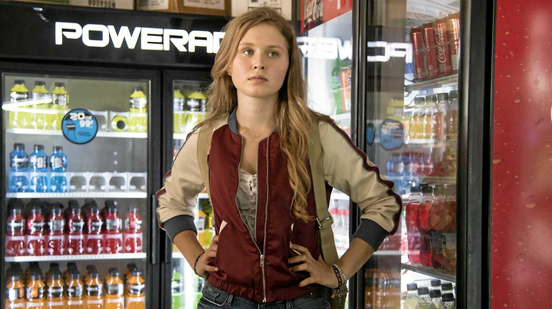 Eliza Scanlen in a scene from the TV series Sharp Objects.